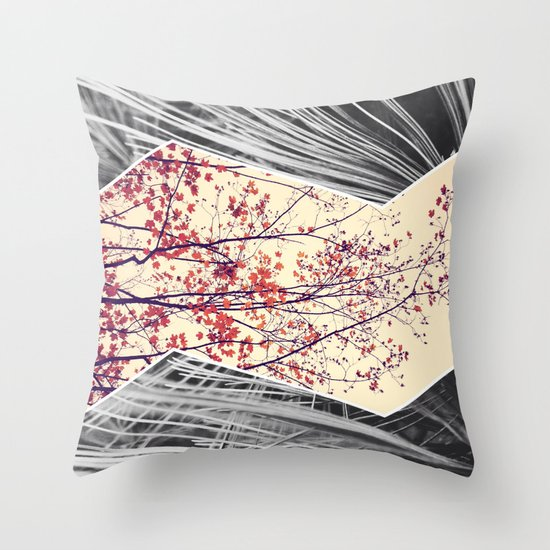 Maple and Pine Collage Throw Pillow
