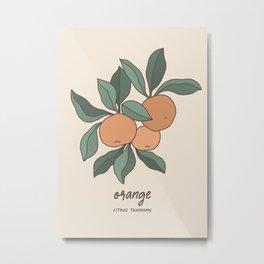 Botanic Oranges Metal Print