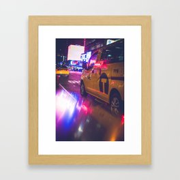 Taxi NYC Life (Color) Framed Art Print