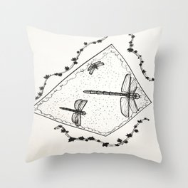 The Day Drags On Throw Pillow