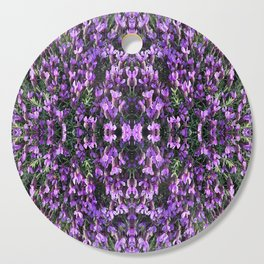 SPANISH LAVENDER AND ONE BEE Cutting Board
