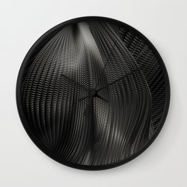Black Steel Abstraction Wall Clock