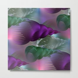 spiral art seamless Metal Print