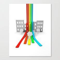Spectrum in Town Canvas Print
