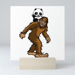 Gone Squatchin with Panda Mini Art Print