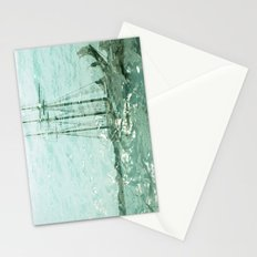 so we beat on, boats against the current... Stationery Cards