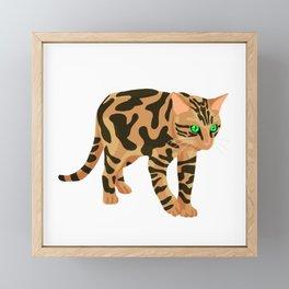 Simple Bengal Framed Mini Art Print