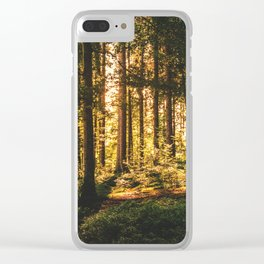 Woods  - Forest, green trees outdoors photography Clear iPhone Case