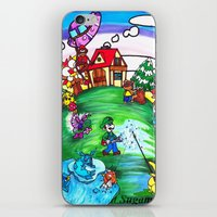 animal crossing iPhone & iPod Skins featuring Animal crossing invasioni  by Cristina Lunat Sugamele