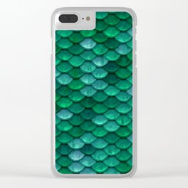 Green Penny Scales Clear iPhone Case