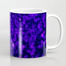 Christmas Blue Purple Night Snowflakes Coffee Mug