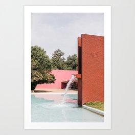 Barragan architecture Art Print