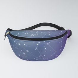 Zodiac Signs Constellations Gradient Shine Fanny Pack