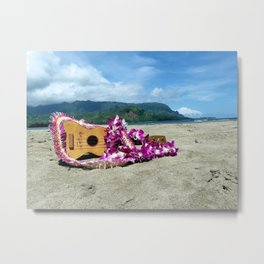 Ukulele at the bay Metal Print