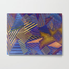 Ultraviolet Scraps and Bits Metal Print