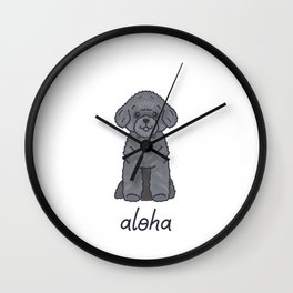 Say Aloha - Silver Toy Poodle - Boo Wall Clock