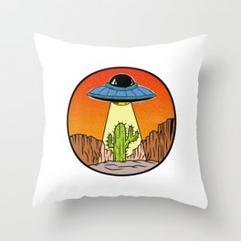 UFO Extraterrestrial Space Succulent Fiction Design T-shirt Aliens Unidentified Flying Object Area Throw Pillow
