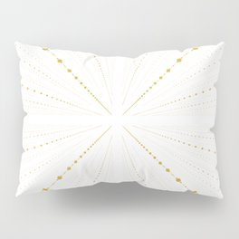 Infinity Space Dots 2 -White and Gold- Pillow Sham