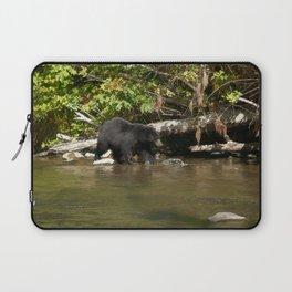 The Salmon Whisperer - A Hunting Black Bear Laptop Sleeve