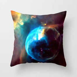 Bubble Nebula Throw Pillow