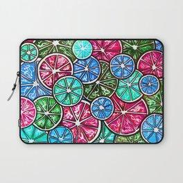 Citruses, Oranges, Lemons, Limes. Watercolor pattern Laptop Sleeve
