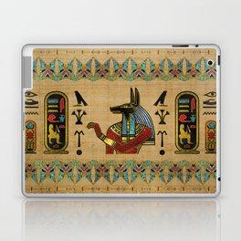 Egyptian Anubis Ornament on papyrus Laptop & iPad Skin