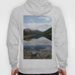 Reflection of the Red Mountains on Crystal Lake Hoody