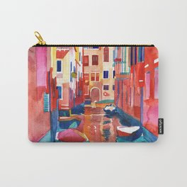 Venice Street with boats Carry-All Pouch