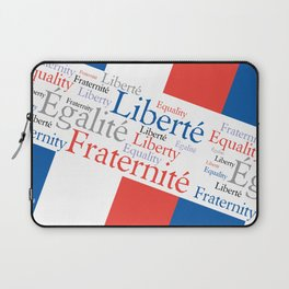 Liberty Equality Fraternity France Laptop Sleeve