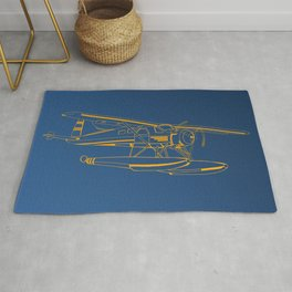 Dutone seaplane Rug