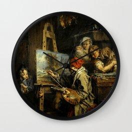 """François Boucher """"The Landscape Painter"""" Wall Clock"""