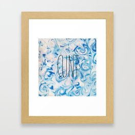 See You Next Tuesday? Framed Art Print