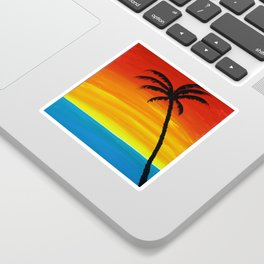 Sunset Palm Sticker
