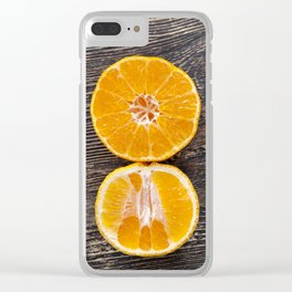 delicious tangerines Clear iPhone Case