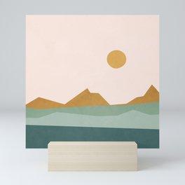 Minimal Line Scape II Mini Art Print