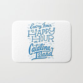 Every Hour is a Happy Hour White Bath Mat