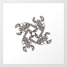 Tribal Scorpions Art Print