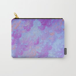 PURPLE PLUMES - Soft Pastel Wispy Lavender Clouds Lilac Plum Periwinkle Abstract Acrylic Painting  Carry-All Pouch