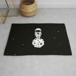 rolling in space Rug
