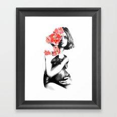 Natalia Vodianova // Fashion Illustration Framed Art Print
