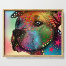 pit bull Serving Tray