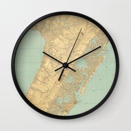 Vintage Map of Cape May NJ (1888) Wall Clock