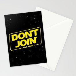 Dont Join DJ The Last Jedi typography Stationery Cards
