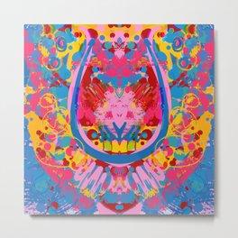 Mystic Glitch Psychedelic Kaleidoscope Mandala by Emmanuel Signorino Metal Print