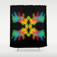 mask Shower Curtains featuring Mask by kartalpaf