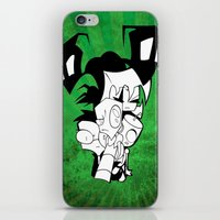 invader zim iPhone & iPod Skins featuring Invader Zim by JekyllDraws
