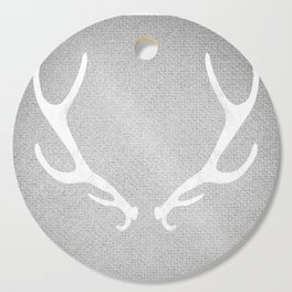 White & Grey Antlers Cutting Board
