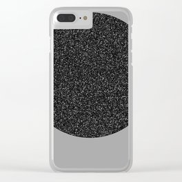 Big Ball in Black and White Clear iPhone Case