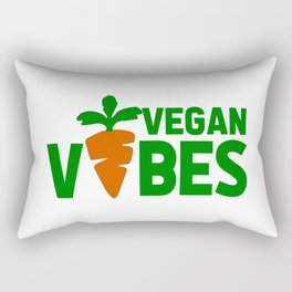 vegan vibes funny saying Rectangular Pillow