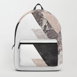 Geometric Shapes. Marble Triangles. Backpack